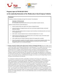 Progress Report Leadership Declaration 2011/2012 - Business and ...