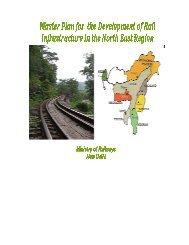 Master Plan - Ministry of Development of North Eastern Region