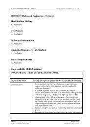 MEM50205 Diploma of Engineering - Technical