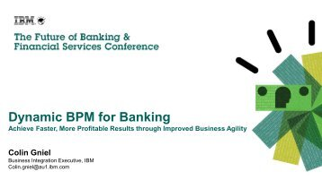 Dynamic BPM for Banking