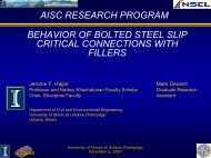 aisc research program - UIUC Newmark Structural Engineering ...
