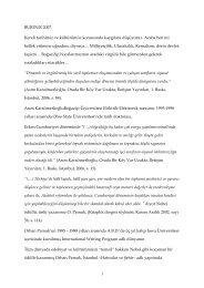 BURDUR 2007 Kendi tarihimiz ve kültürümüz ... - alperakcam.com