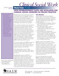 Clinical Social Work - National Association of Social Workers