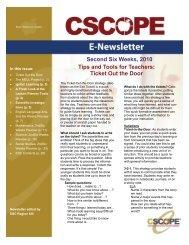 2nd Six Weeks Newsletter - Region 13