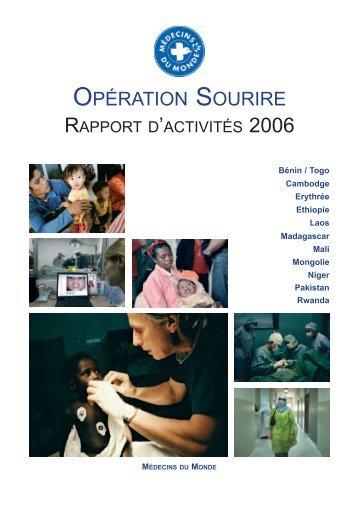 opération sourire - rapport d'activités 2006 - Médecins du Monde
