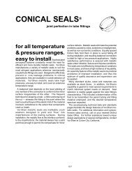 CONICAL SEALS® - Electronic Fasteners Inc
