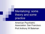 Mentalizing - Borderline Personality Disorder