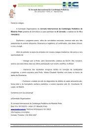 Programação - Sociedade Brasileira de Cirurgia Cardiovascular