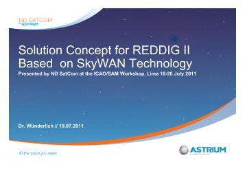 Solution Concept for REDDIG II Based on SkyWAN Technology - ICAO