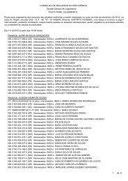 Pauta da 4ª CAJ dos dias 11 e 12/12/2012