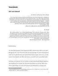 Thomas Gutknecht Thomas Gutknecht Zeit und Zukunft Vorbemerkung Um ...