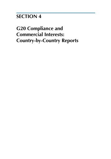 SECTION 4 G20 Compliance and Commercial ... - Global Trade Alert