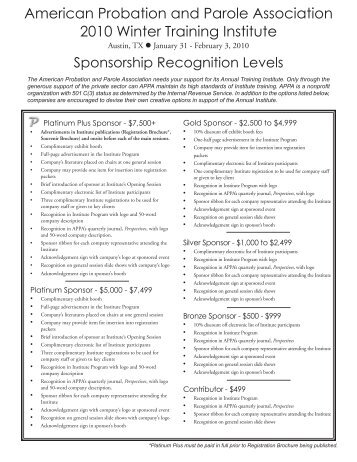 Download Sponsorship Opportunities - American Probation and ...
