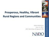 Prosperous, Healthy, Vibrant Rural Regions and ... - NADO.org