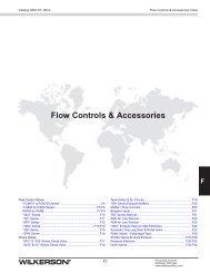 Flow Controls & Accessories - Wilkerson Corporation
