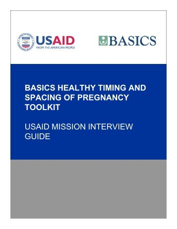 USAID Mission Interview Guide for Healthy Timing and ... - basics