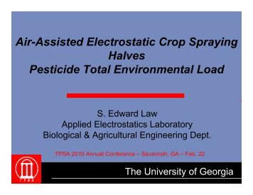Air-Assisted Electrostatic Crop Spraying Halves Pesticide Total ...