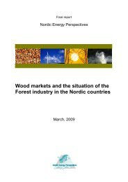 Wood markets and the situation of the Forest industry in the Nordic ...