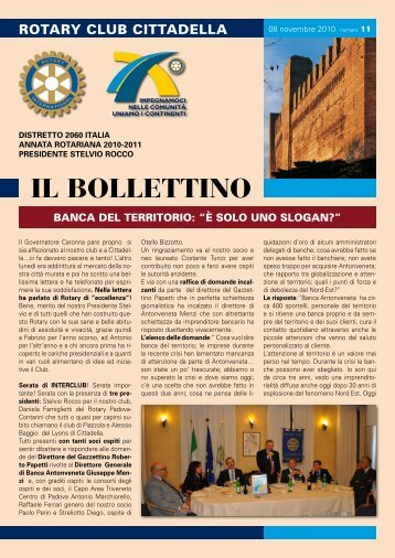 IL BOLLETTINO - Rotary International Distretto 2060