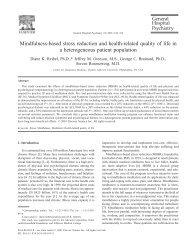 Mindfulness-based stress reduction and health ... - Sites@Duke