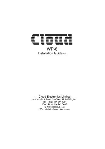 WP-8 Installation Guide - Cloud