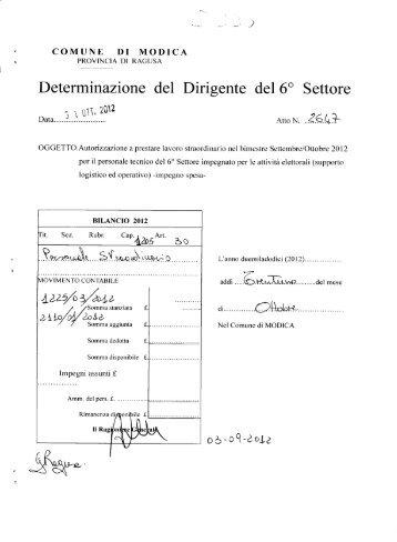 determina n.2647-2012.pdf - Comune di Modica