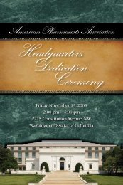 Dedication Ceremony Program (pdf) - American Pharmacists ...