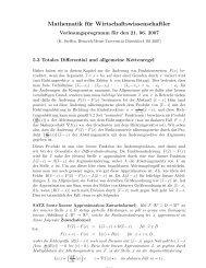 Totales Differential und Extremstellen. - Angewandte Statistik