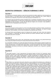 Ciências Humanas e Artes - Unicamp