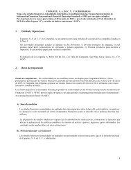 Notas Estados Financieros Segundo Trimestre 2013 - Copamex
