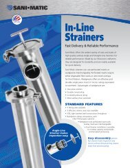 Sani-Matic In-Line Strainers