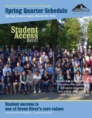 Fall Quarter Schedule - Green River Community College