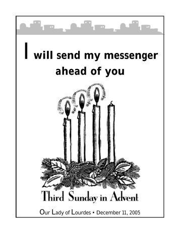 Iwill send my messenger ahead of you - The Parish Family of Our ...