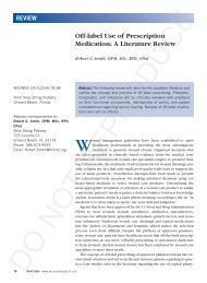 Off-label Use of Prescription Medication: A Literature Review - Wounds