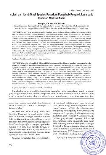 Full Text - Hortikultura