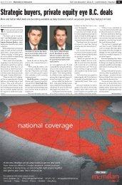 Strategic buyers, private equity eye B.C. deals - Clark Wilson LLP