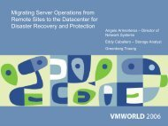 Migrating Server Operations from Remote Sites to the ... - VMware