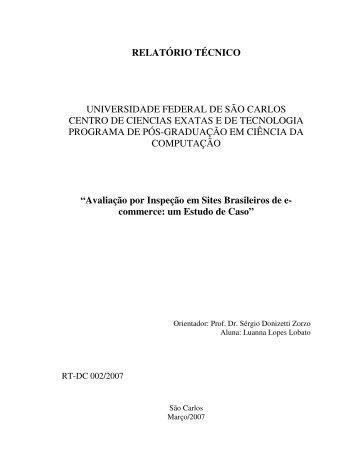 relatório técnico - Departamento de Computação