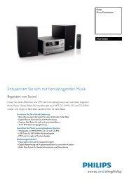 MCM2000/12 Philips Micro-Musiksystem