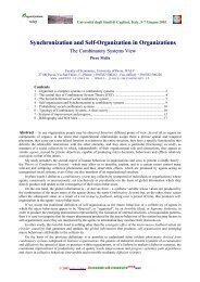 Synchronization and Self-Organization in Organizations