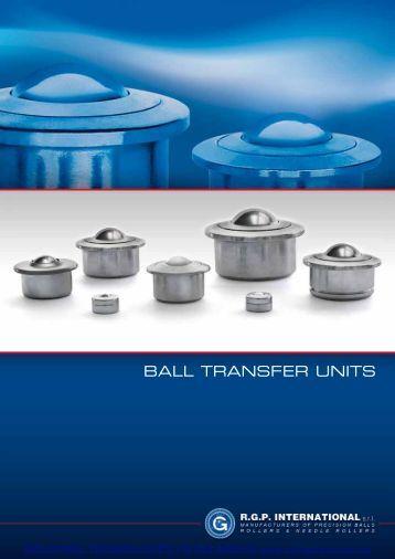 BALL TRANSFER UNITS R.G.P. International - Industrial Technologies