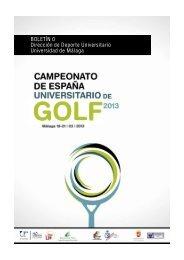 BOLETIN 0 CEU 2013 - Real Federación Española de Golf