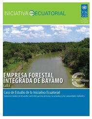 EmprEsa ForEstal IntEgrada dE Bayamo - Equator Initiative