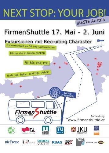 NEXT STOP: YOUR JOB! - IAESTE Austria