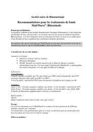 Recommandations pour les traitements de fonds MabThera ...