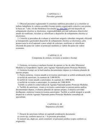 Ordinul 1225 din 2005 privind deseurile de echipamente ... - Ecotic