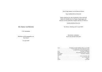 Die Dame von Rittwitz - Hackländer, Friedrich Wilhelm Ritter von