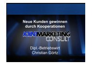 Neue Kunden gewinnen und Umsatz steigern durch Marketing
