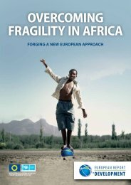 OVERCOMING FRAGILITY IN AFRICA - European Commission
