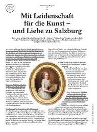 Mit Leidenschaft für die Kunst – und Liebe zu Salzburg - Art Salzburg